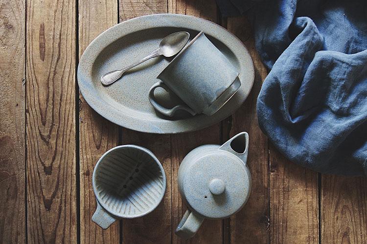 Ancient Pottery Gray Pot & Dripper - エイシェントポタリー グレー ポット ドリッパー