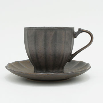 Ancient Pottery Brass Cup & Saucer - エイシェントポタリー ブラス カップ&ソーサー