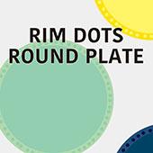 Rim Dots Round Plate リムドット ラウンドプレート