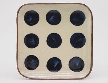 No.M056t Square Plate M てん